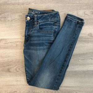American Eagle medium wash skinny jeans